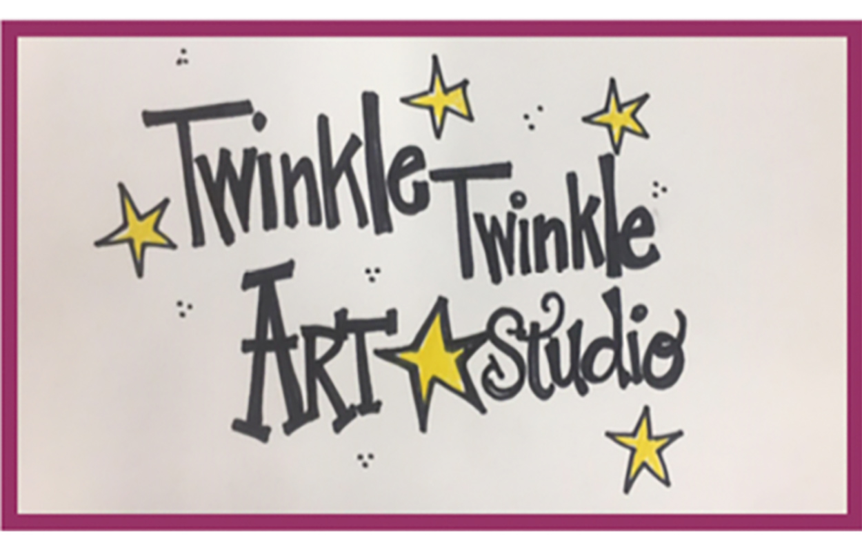hand-drawn Twinkle Twinkle Art Studio
