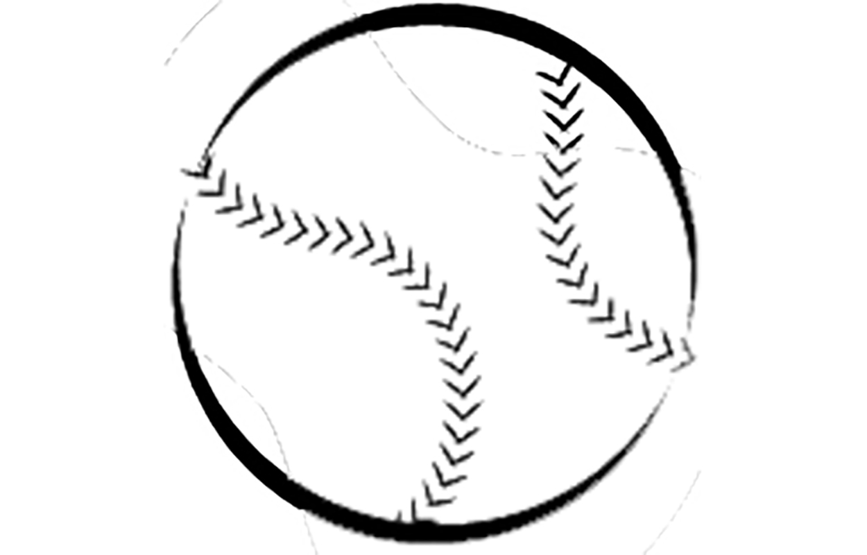 drawing of a baseball